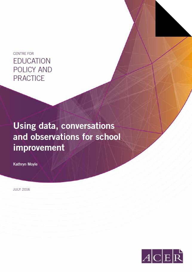Using data, conversations and observations for school improvement